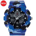 Umbro-039-1 Blue Camouflaged Rubber