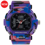 Umbro-040-3 Purple Camouflaged Rubber