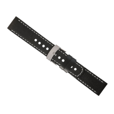 Elementum Terra - Black leather strap