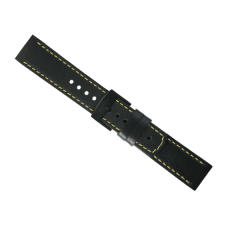 Elementum Terra-Ventus Black - Yellow leather strap